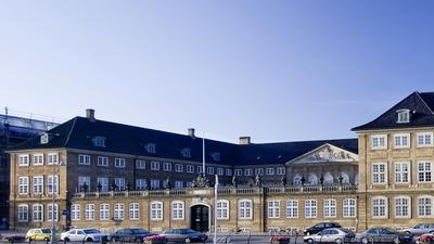 The main enterance to The National Museum of Denmark